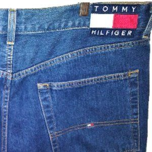 Vintage Tommy Hilfiger Mens Large Flag Logo Jean